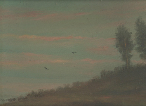 oleo original : lodeizen - paisaje 011 - mide 24 x 34 cm