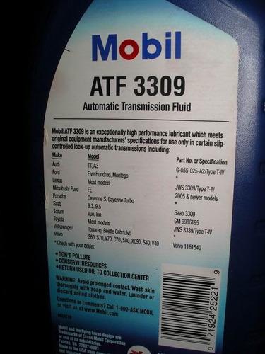 óleo para cambio automatico mobil atf 3309 toyota corolla
