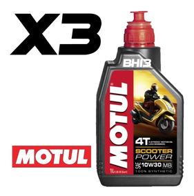 Óleo Pcx Motul Scooter Power 10w30 100% Sintético 3 Litros