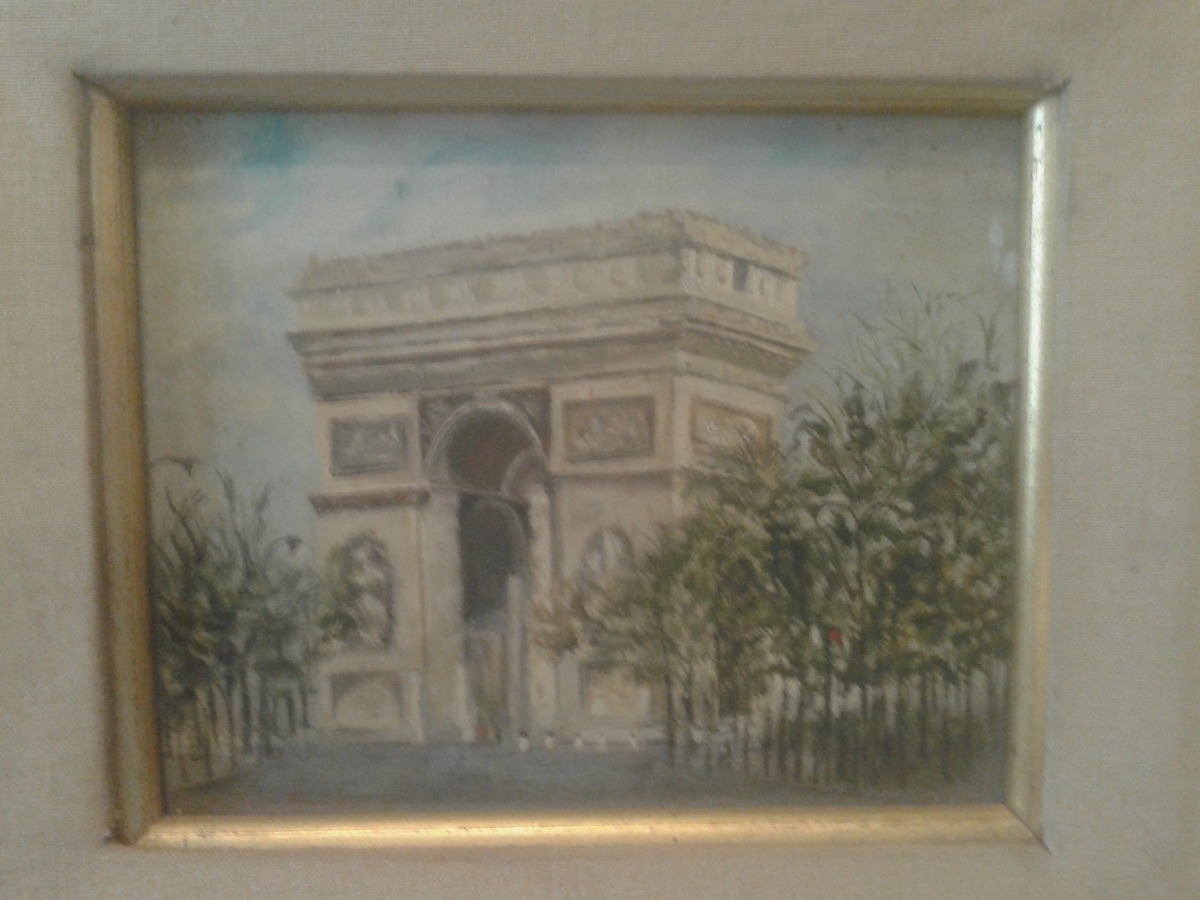 Oleo Pintura Arco De Triunfo Paris Gloria Ossoinak Marco Oro ...
