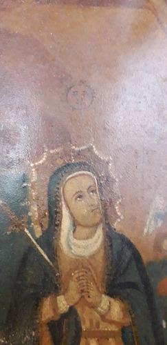 oleo pintura sobre chapa cristo santa maría dolorosa colonia