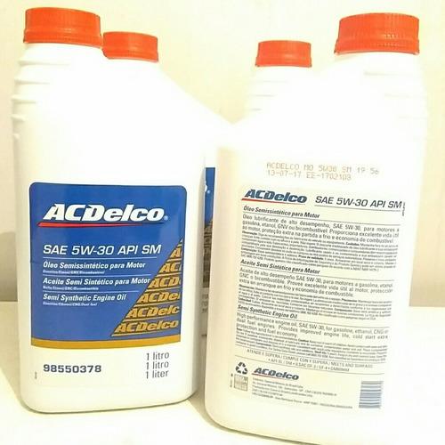 oleo semisintetico para motor acdelco sae 5w-30 api sn 1 lit