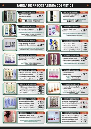 óleo serum argan azenka cosméticos 120ml reparador de pontas