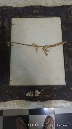 oleo sobre cartão dela manica velho emoldurado