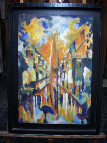 óleo sobre madera - 42 x 64 cm sobre expositor de madera