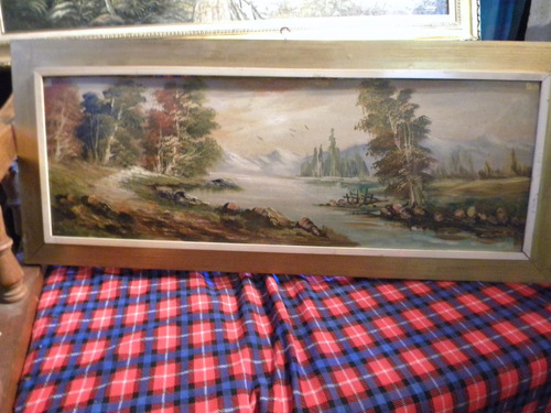 oleo sobre madera sin firma legible 399 $