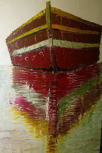 óleo sobre tela espatulada 60x40  barco mauá cz9
