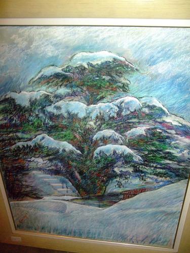 óleo sobre tela europeu, representado floresta.