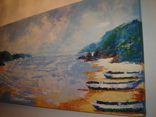 oleo sobre tela marinha - victor wuo - 2003