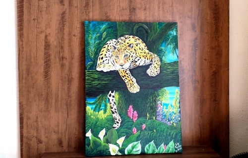 óleo sobre tela (onça) 50x70