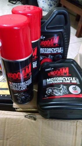 oleo spray lubrificante de corrente para motos vrooam top!!