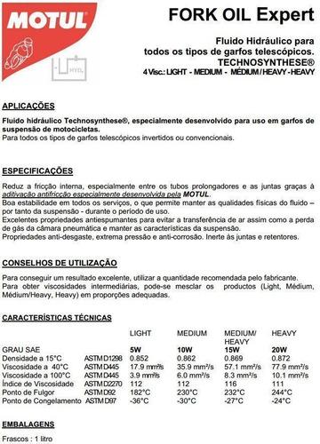 óleo suspensão motul - fork oil expert medium 10w (1 litro)