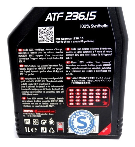 óleo transmissão automática motul atf 236.15 mercedes benz