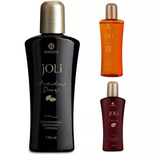 óleos corporais hidratados e perfumados joli