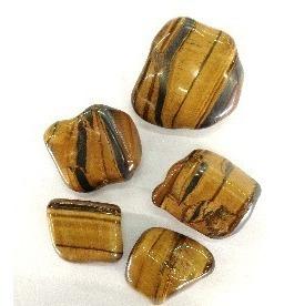 olho de tigre rolada natural 500g pedra cura cristais