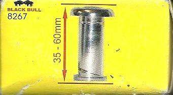 olho mágico p portas black bull 35-60mm prata a8267cod 00253