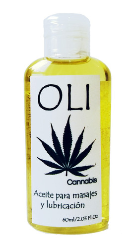 oli aceite cannabis 60ml masaje lubricacion - sex shop de la