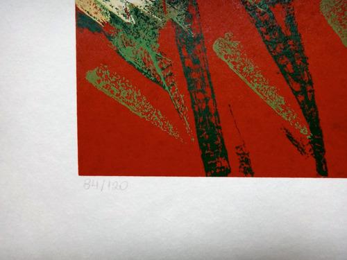 olimpia couto - flores - delicada serigrafia 50cm x 50cm