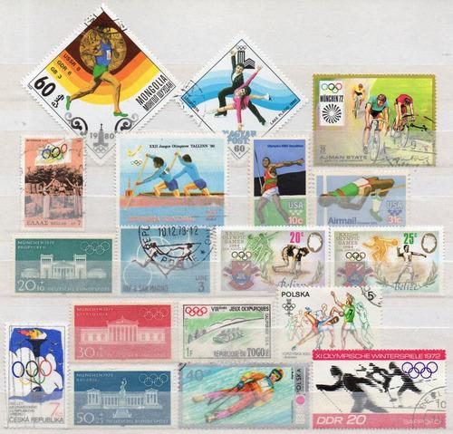 olimpíadas - lote 18 selos diversos