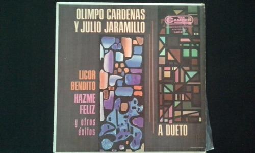 olimpo cardenas y julio jaramillo a dueto lp vinil
