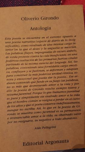 olivero girondo. antologia poetica
