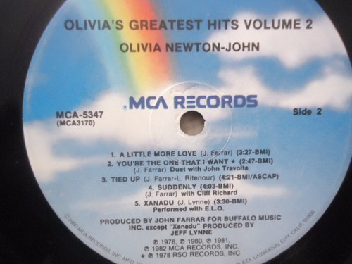 olivia newton john / olivia´s greatest hits vol. 2 lp