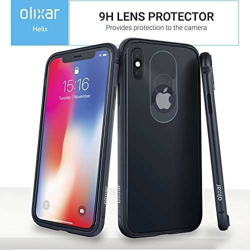 premium selection e1aec ea229 Olixar iPhone X Case And Front + Back Glass Screen Protector