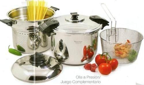 Olla a presi n rena ware 9 litros 5 piezas nutrex cooker for Precios de utensilios de cocina rena ware