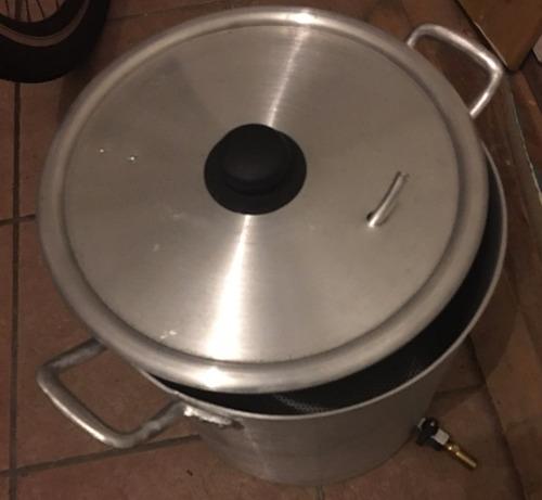 olla aluminio 25 l c/canilla y falso fondo cerveza casera