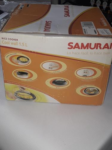olla arrocera vaporera de 10 taza 1.5 l samurai