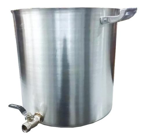 olla de aluminio n° 34 con canilla 30 lts cerveza artesanal