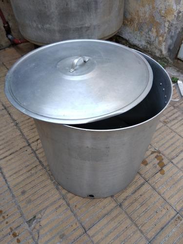olla de aluminio num.55. - 130 litros