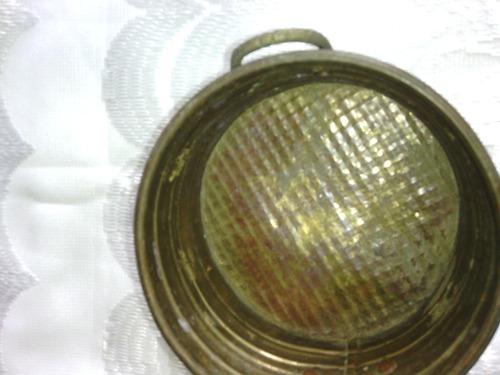 olla de cobre de decoración usada