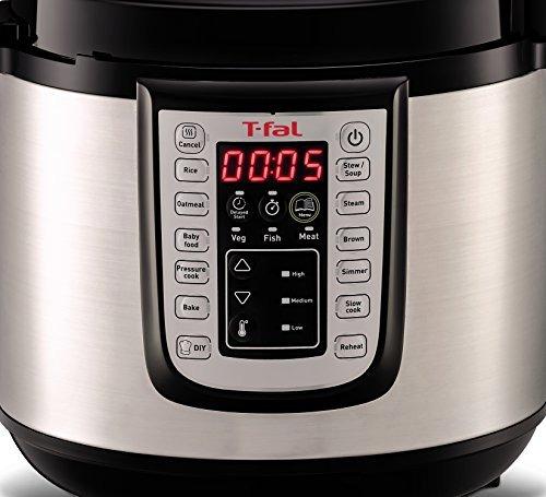 olla de presión eléctrica programable t-fal cy505e
