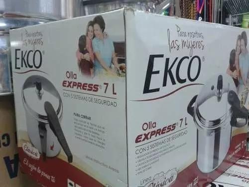 olla express ecko 7 litros aluminio meses sin intereses