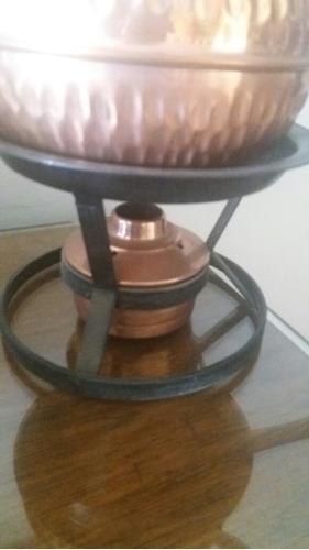 olla fondue de cobre