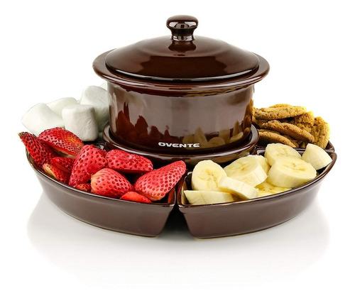 olla fondue de queso o chocolate eléctrica de 1 litro