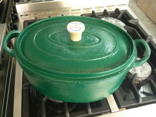 olla oval de fundición de hierro con tapa - varios colores