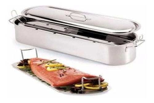 olla oval para pescado - matambrera axen 45x16 cm ac inox.
