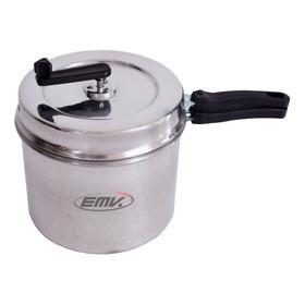 Olla Pochoclera De Aluminio 5 L Para Pochoclos Dulces Y Salados + Cuchara Medidora