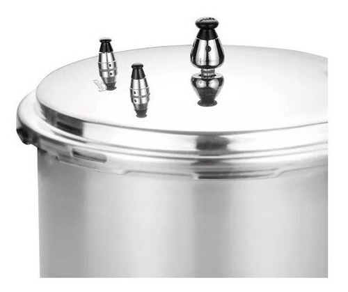 olla presion kalley 6 litros aluminio 3 valvulas cie/externo