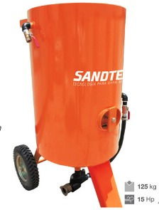 olla sand blast 125 kg olla metalica para granalla 272 kg