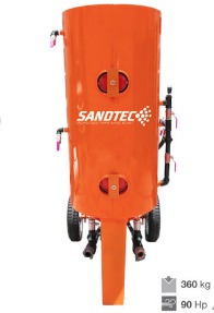 olla sand blast para dos operadores 360 kg doble rapida