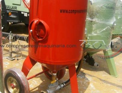 olla tanque sand blast 270 kg sand blasteo arena silica