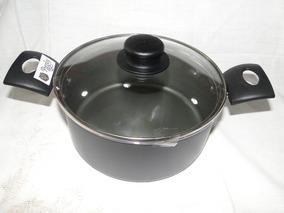 Olla Vidrio Negro Cocinar Cocina Teflon 34LA5Rj