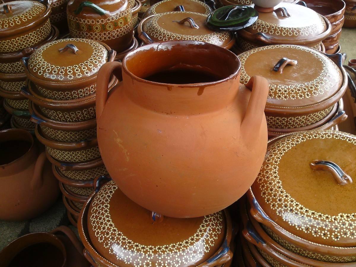 Olla tinaja de barro deposito para agua en for Decoracion de jardin con ollas de barro