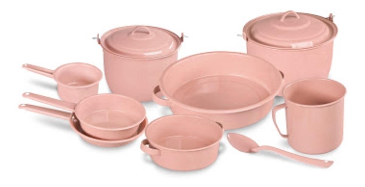 Ollas Bateria Cocina Rosa De 11 Piezas Peltre 1 850 00 En