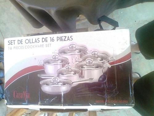 ollas casamia acero inox originales set 16pzas
