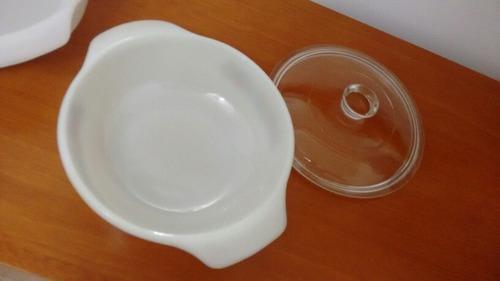 ollas refractarias con tapa tipo pyrex,. 30 verds