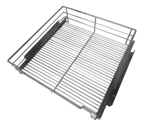 ollero cesta de tubo acero cromado fgv para mueble de 56 cm